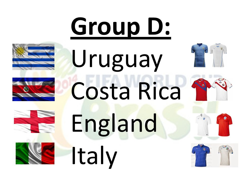 Group D: Uruguay Costa Rica England Italy