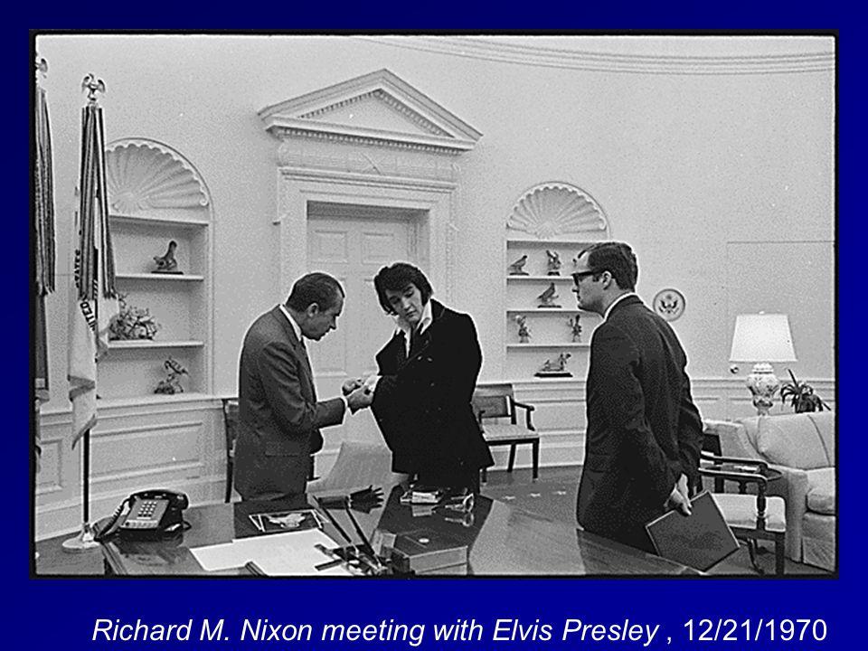 Richard M. Nixon meeting with Elvis Presley, 12/21/1970