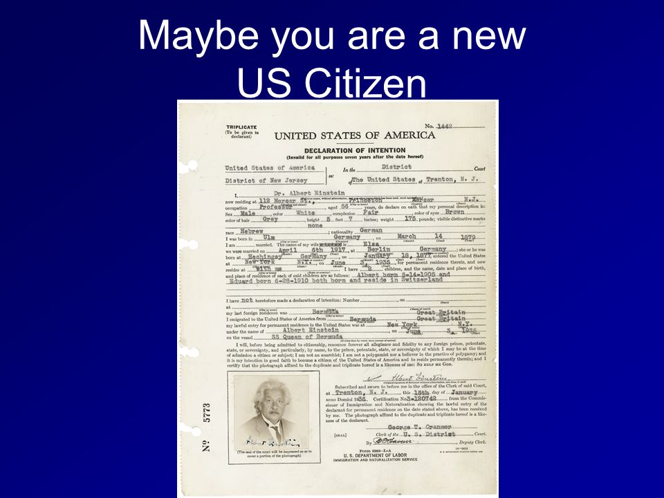 Maybe you are a new US Citizen