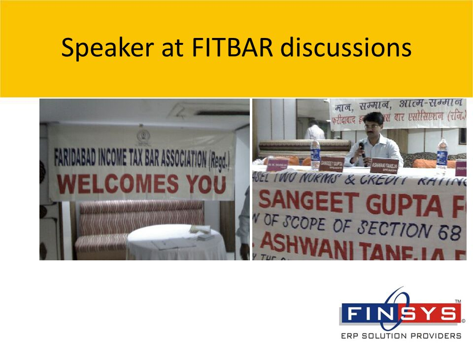 © 2007 Grant Thornton India Pvt. Ltd. All rights reserved. 16 Speaker at FITBAR discussions