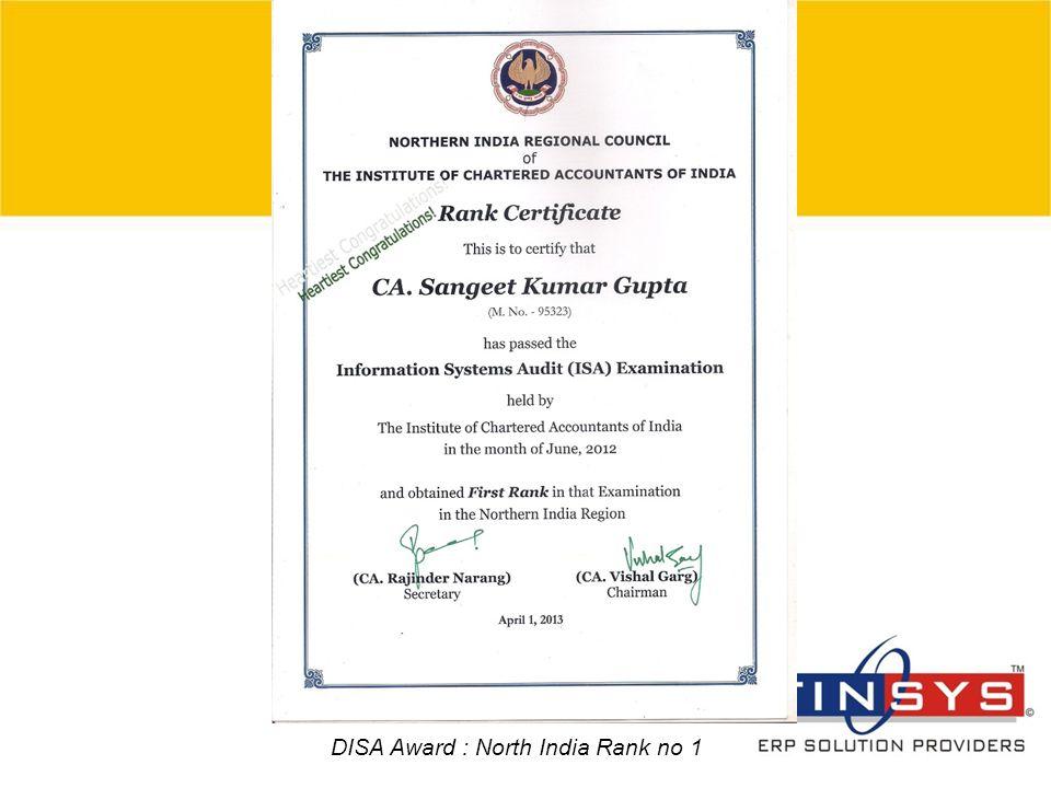 © 2007 Grant Thornton India Pvt. Ltd. All rights reserved. 5 DISA Award : North India Rank no 1