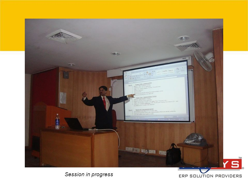 © 2007 Grant Thornton India Pvt. Ltd. All rights reserved. 9 Session in progress