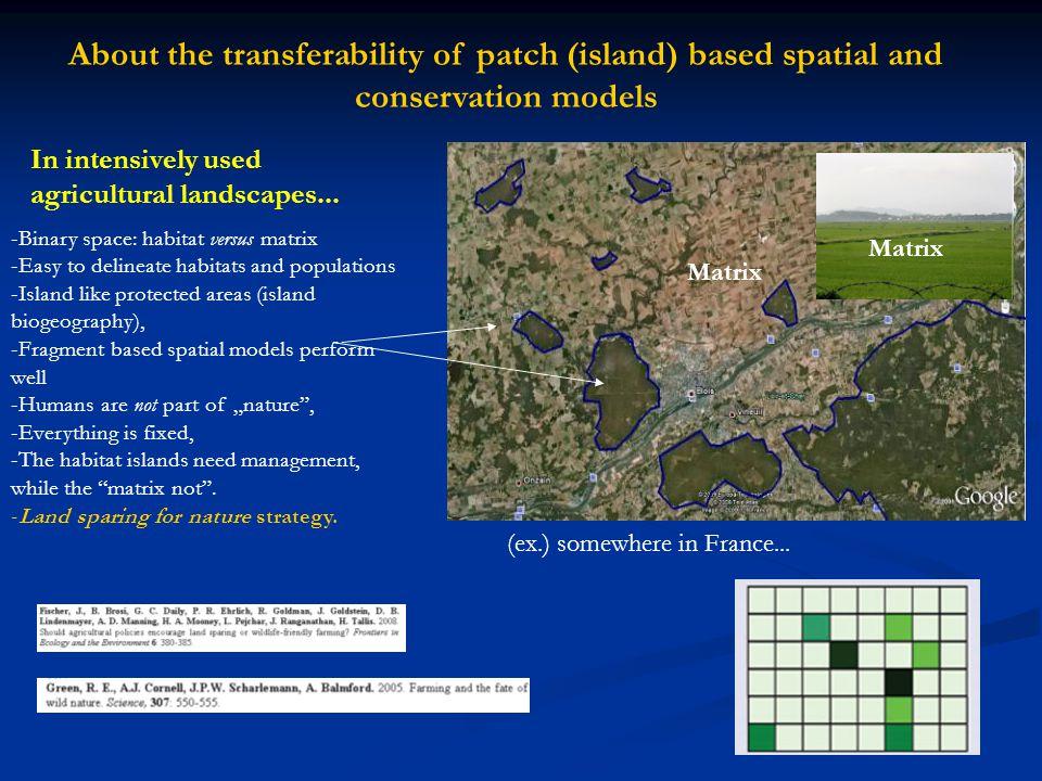 Landscape composition and configuration in binary (i.e.