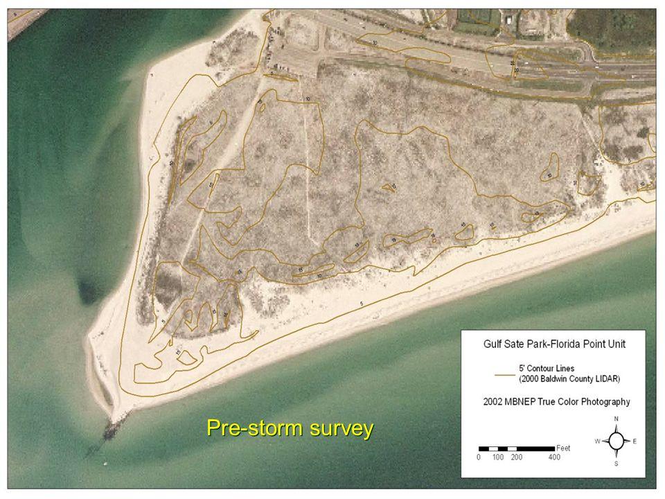 Pre-storm survey