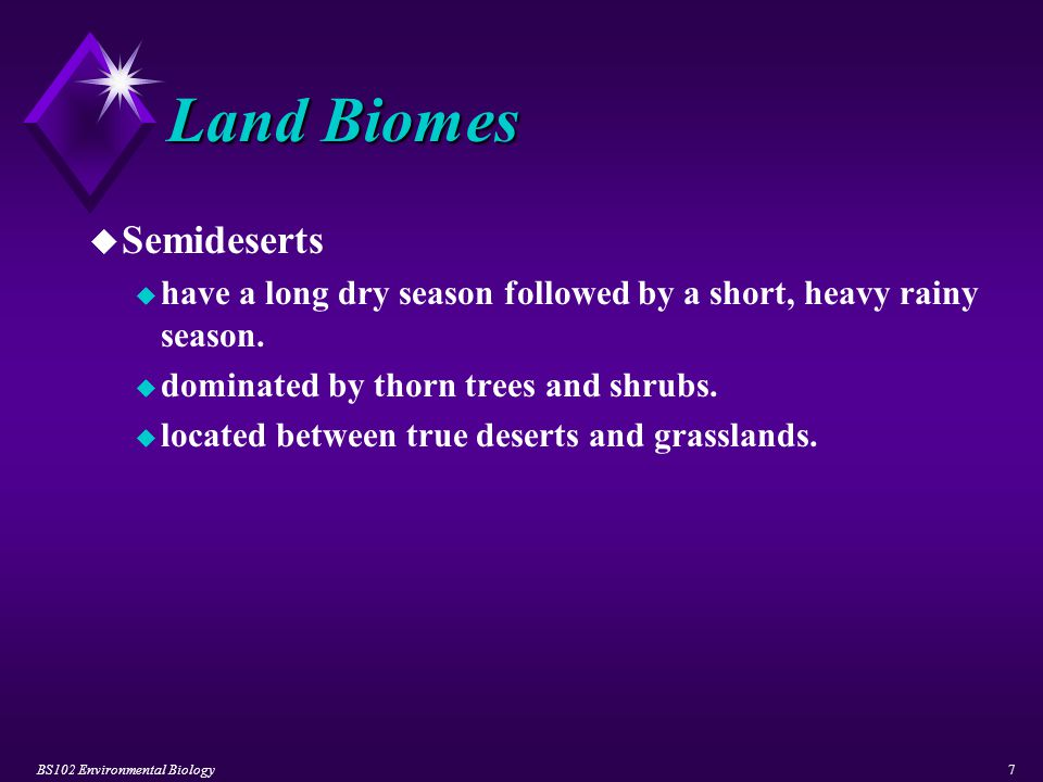 BS102 Environmental Biology28 Water Environments u River System Zones u Headwater / Source Zone u composed of cold, clear water.