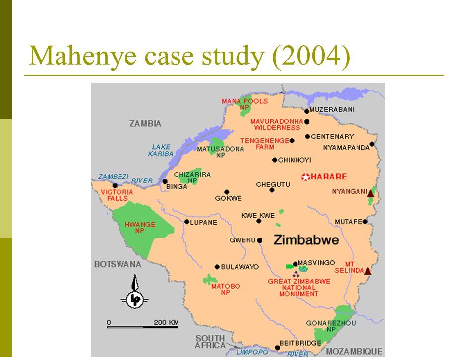 Mahenye case study (2004)