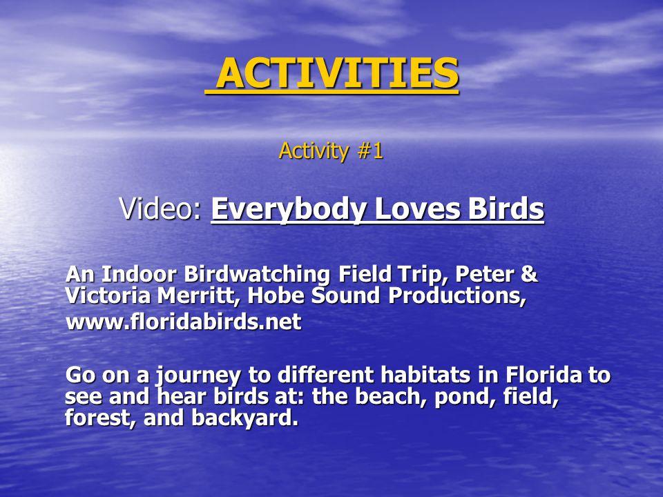 Bird List: Bird List: Club members are given a chart.