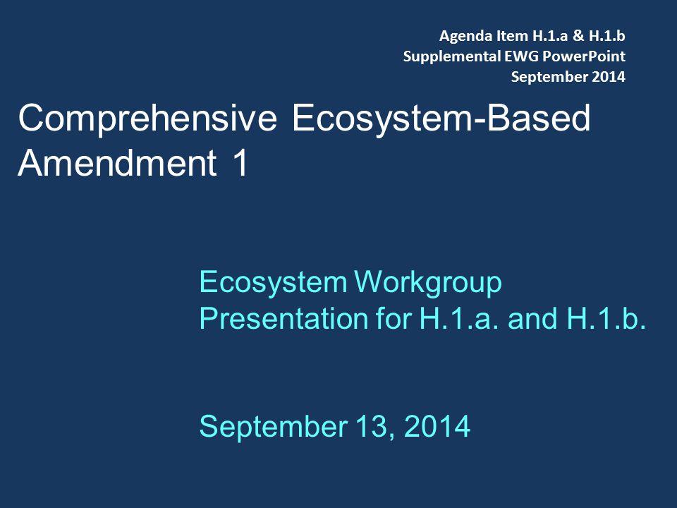 Comprehensive Ecosystem-Based Amendment 1 Ecosystem Workgroup Presentation for H.1.a.