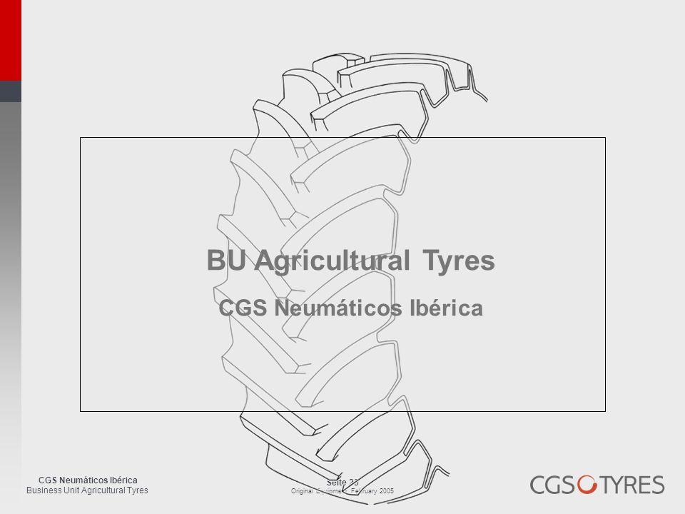 CGS Neumáticos Ibérica Business Unit Agricultural Tyres Seite 25 Original Equipment, February 2005 BU Agricultural Tyres CGS Neumáticos Ibérica