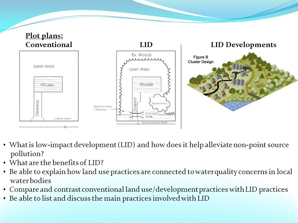 What is low-impact development (LID) and how does it help alleviate non-point source pollution.
