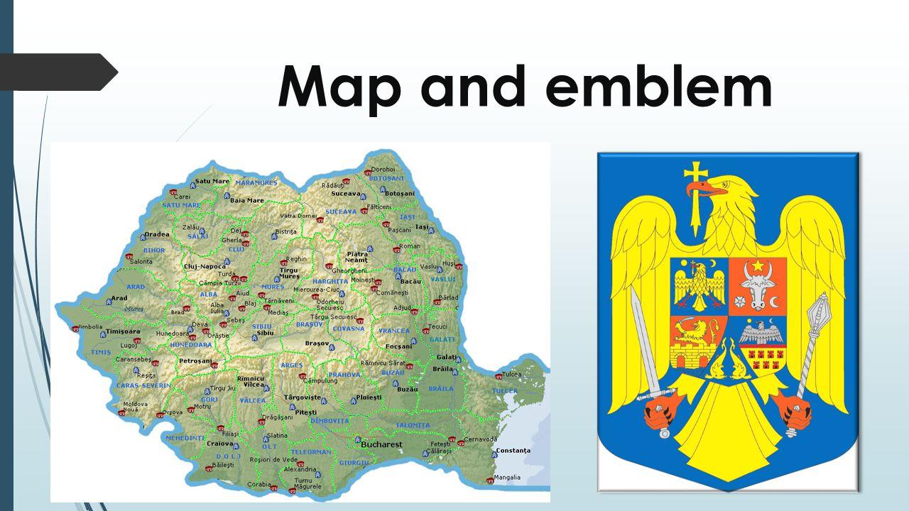 Map and emblem