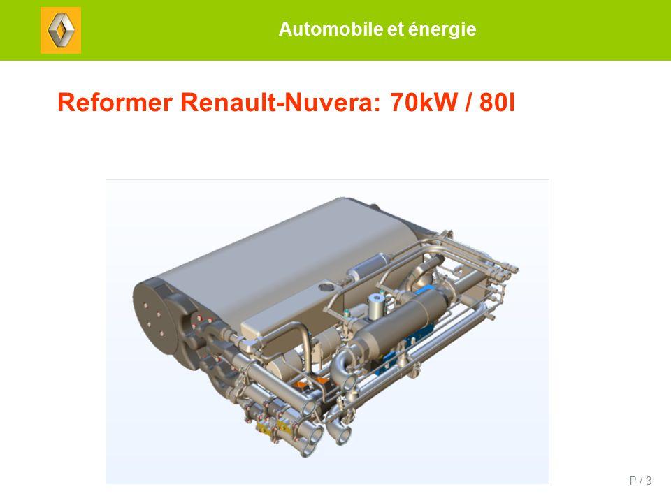 P / 3 Reformer Renault-Nuvera: 70kW / 80l Automobile et énergie
