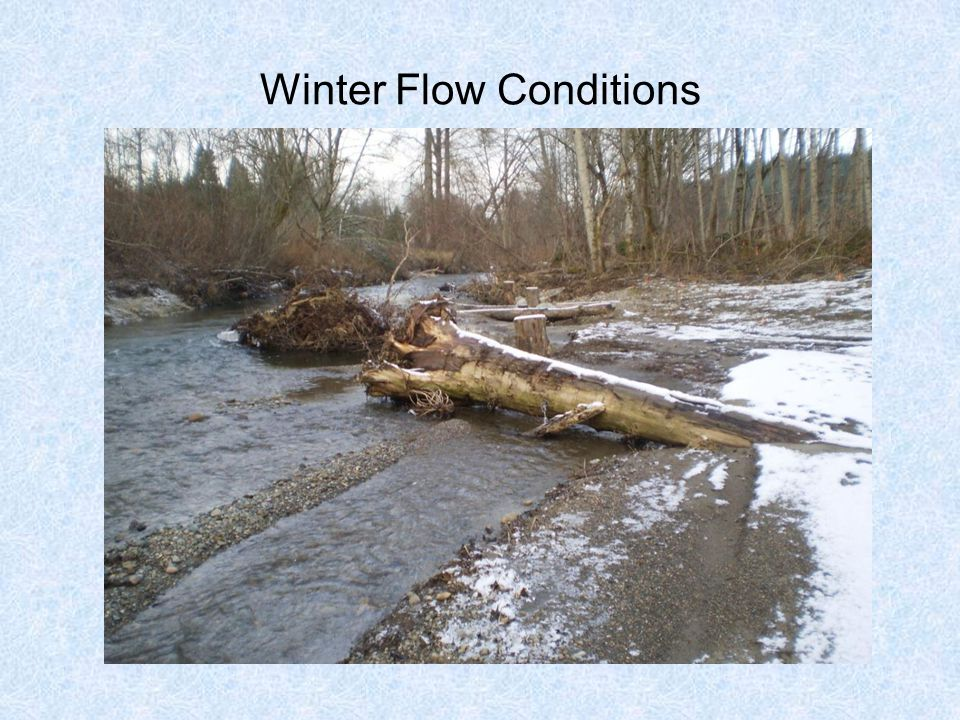Winter Flow Conditions