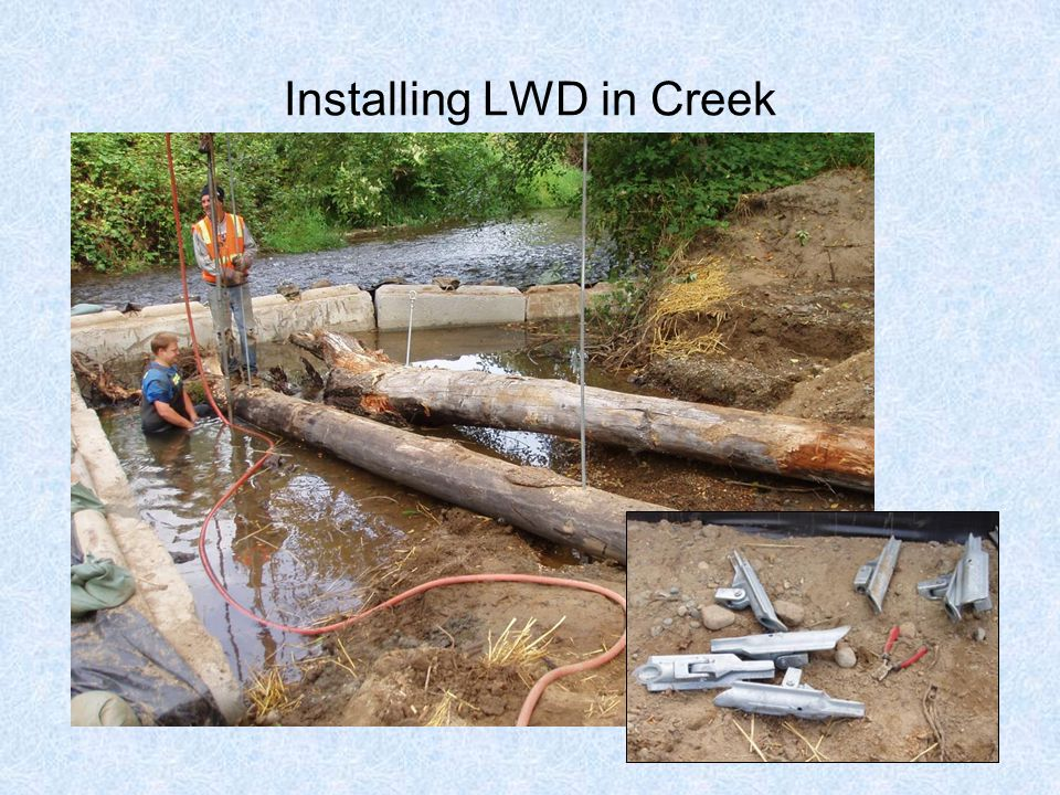 Installing LWD in Creek