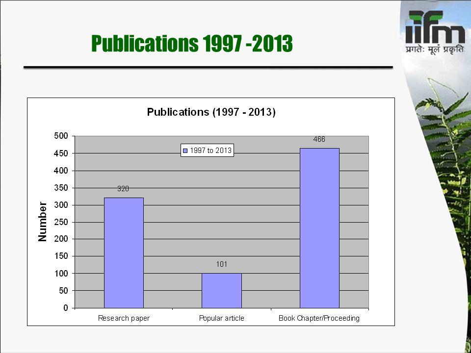 Publications 1997 -2013