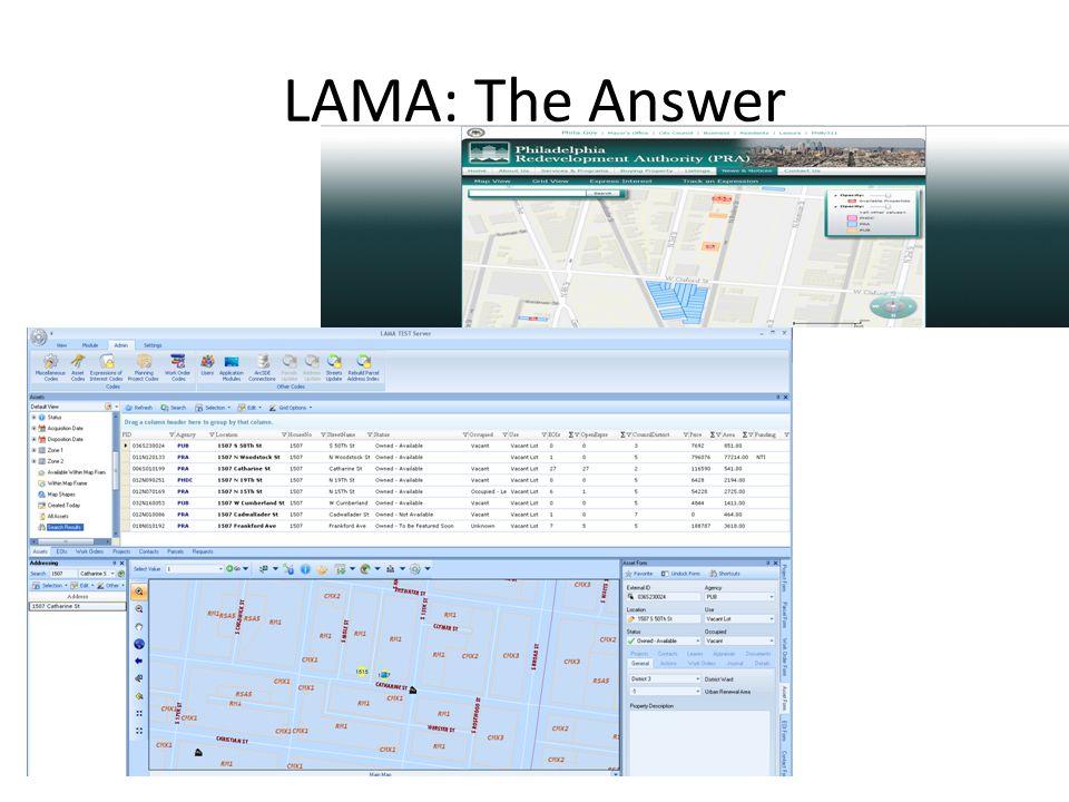 LAMA: The Answer