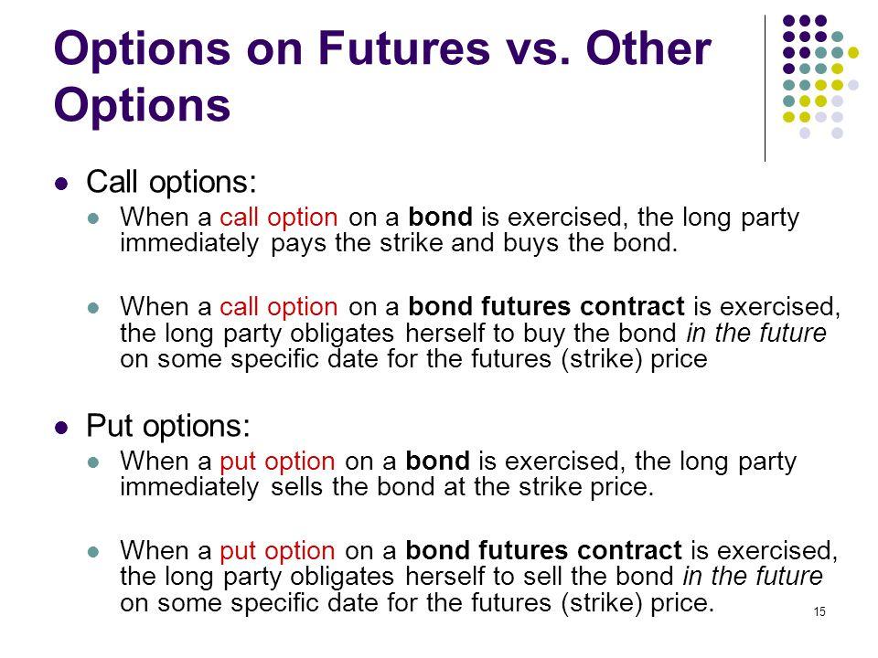 15 Options on Futures vs.