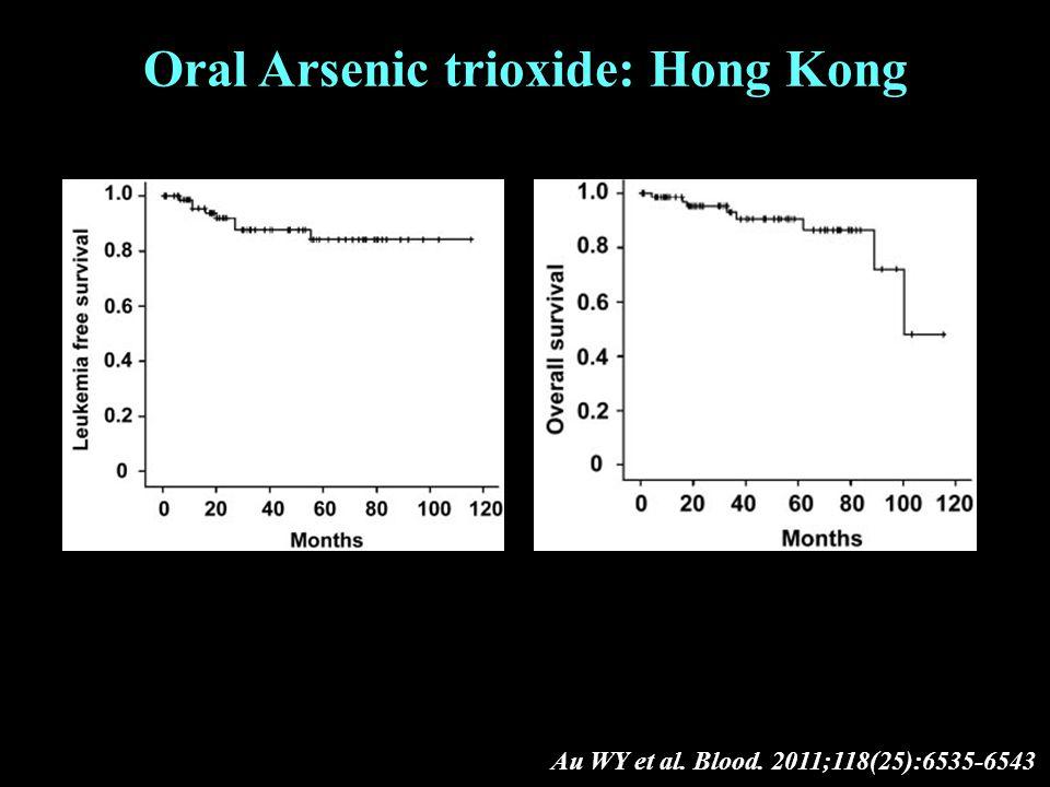 Au WY et al. Blood. 2011;118(25):6535-6543 Oral Arsenic trioxide: Hong Kong