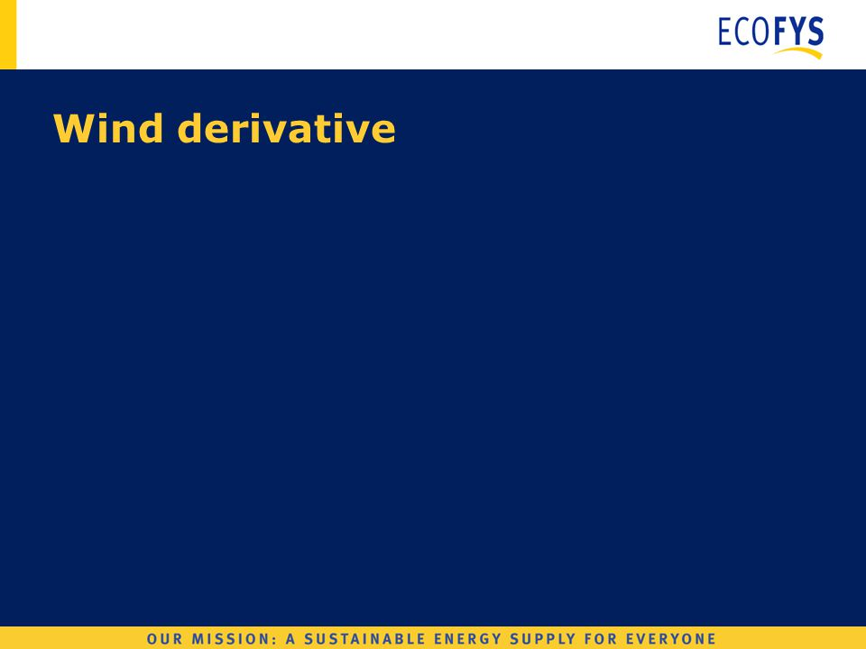 Wind Derivatives Wind derivative