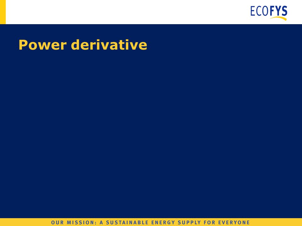 Wind Derivatives Power derivative