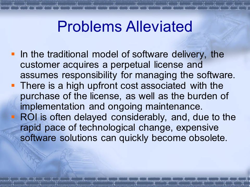 Why Going SaaS Cutter Consortium – WW later 2005