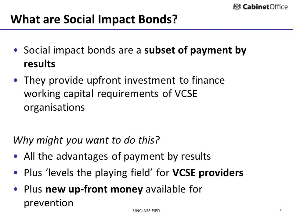6 Basic SIB structure Commissioner Investors Provider Outcomes payments (based on results) UNCLASSIFIED Upfront investment (working capital) Services
