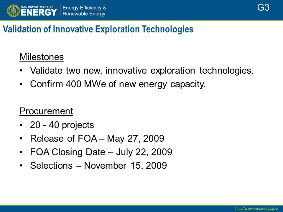 Validation of Innovative Exploration Technologies Milestones Validate two new, innovative exploration technologies.