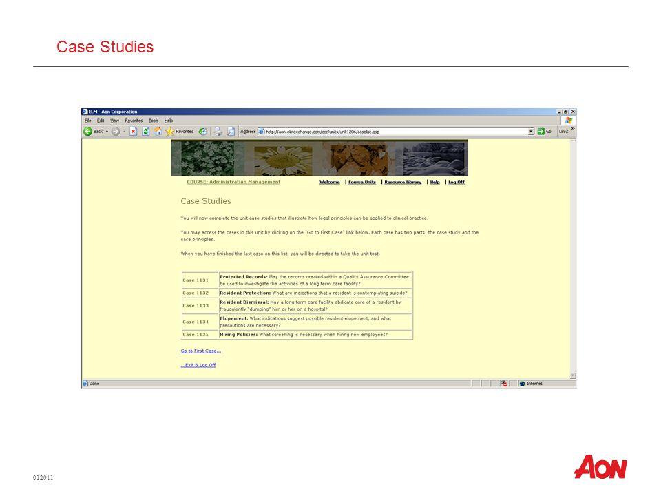012011 Case Studies
