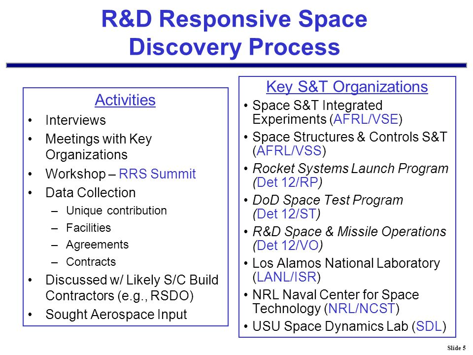 Slide 36 Current S/C Capabilities - Services AFRL/VS Distributed Architecture Simulation Lab (DASL) has modeling and simulation capabilities for SV subsystems, payload modeling, hardware-in-the-loop evaluations, and development of flight software.