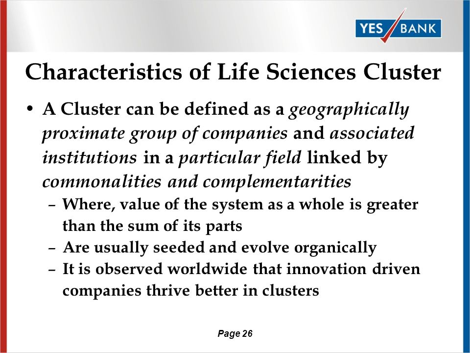 Page 25 Life Sciences cluster /Biotech Parks