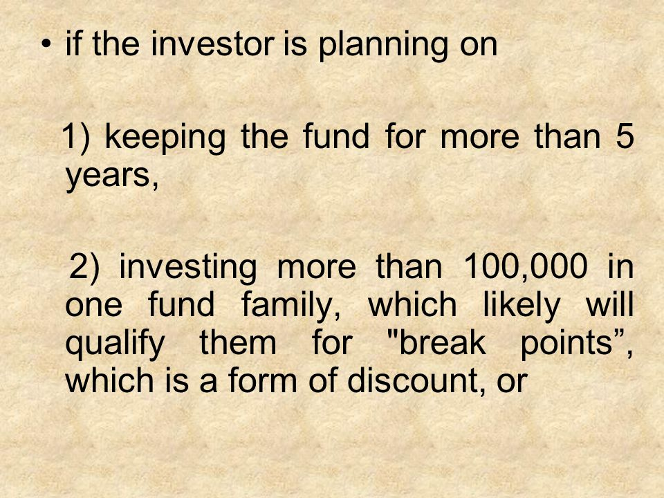 3) staying with that fund family for more than 5 years, but switching funds within the same fund company.