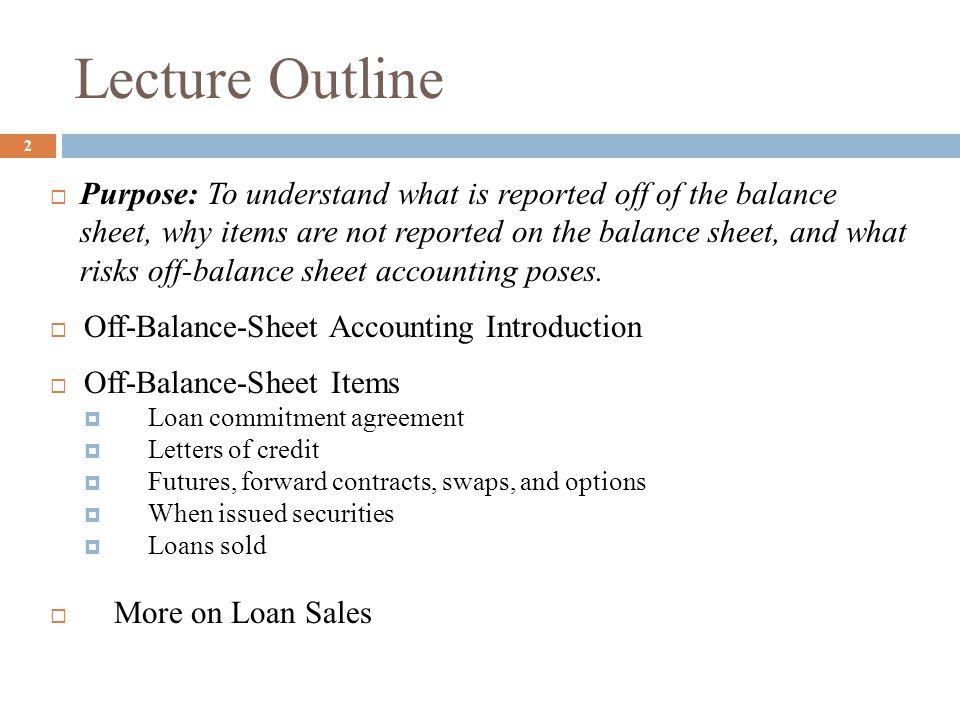 3 Off-Balance-Sheet Accounting Introduction