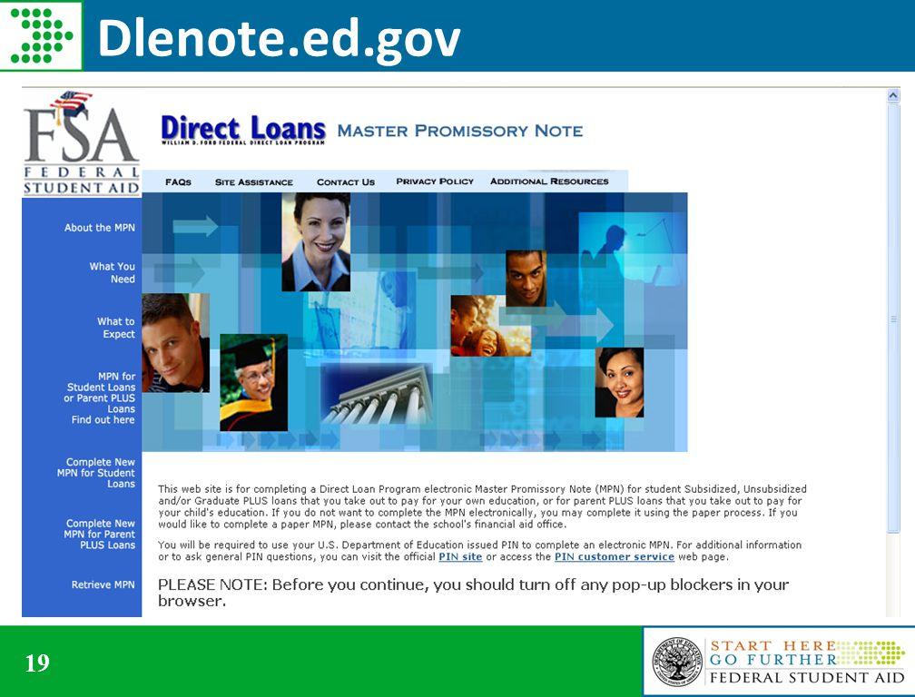 19 Dlenote.ed.gov