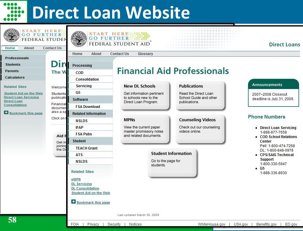 58 Direct Loan Website