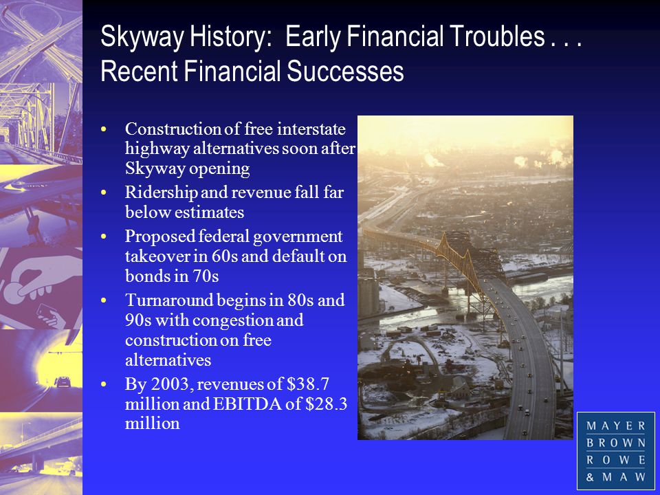 Skyway History: Early Financial Troubles...