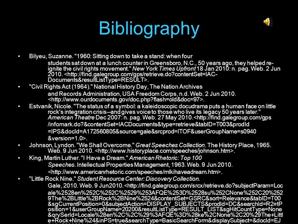 Bibliography Bilyeu, Suzanne.