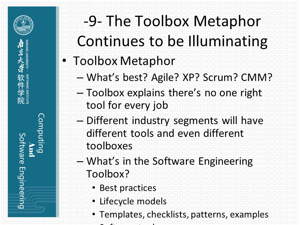 -9- The Toolbox Metaphor Continues to be Illuminating Toolbox Metaphor – What's best.