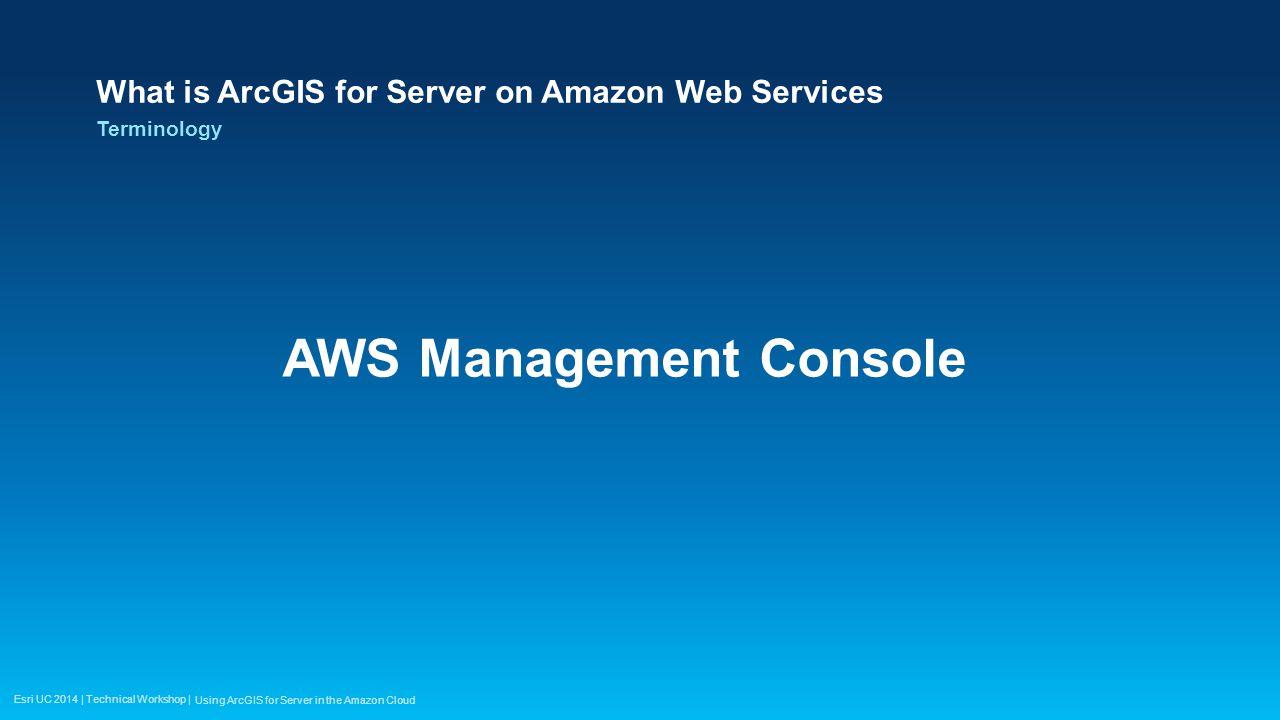 Esri UC 2014 | Technical Workshop | Bill Dashboard Using ArcGIS for Server in the Amazon Cloud