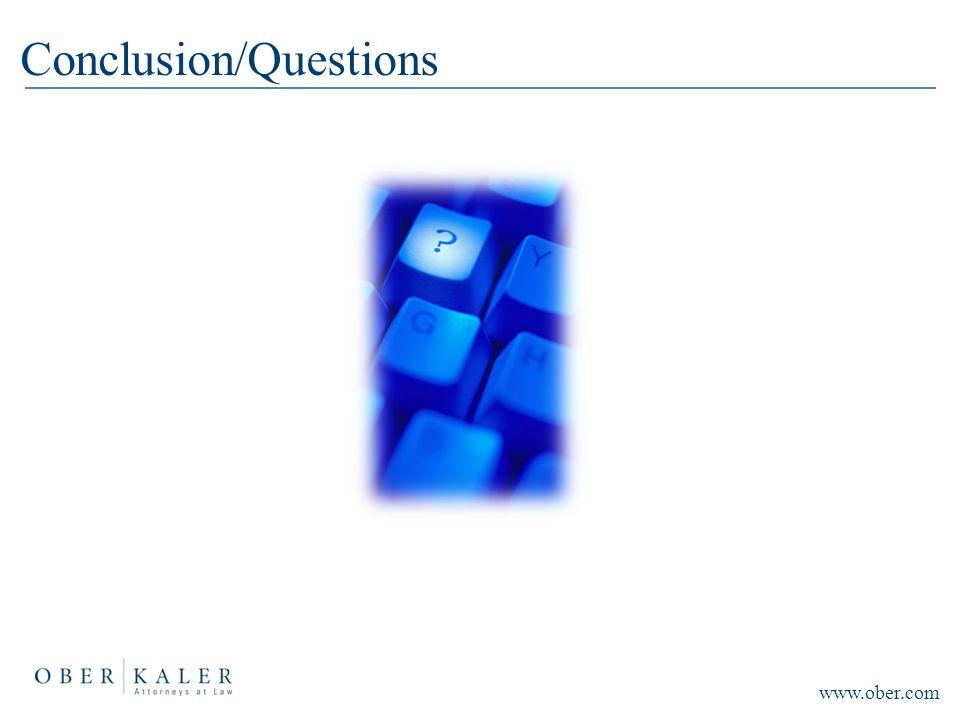 Conclusion/Questions www.ober.com