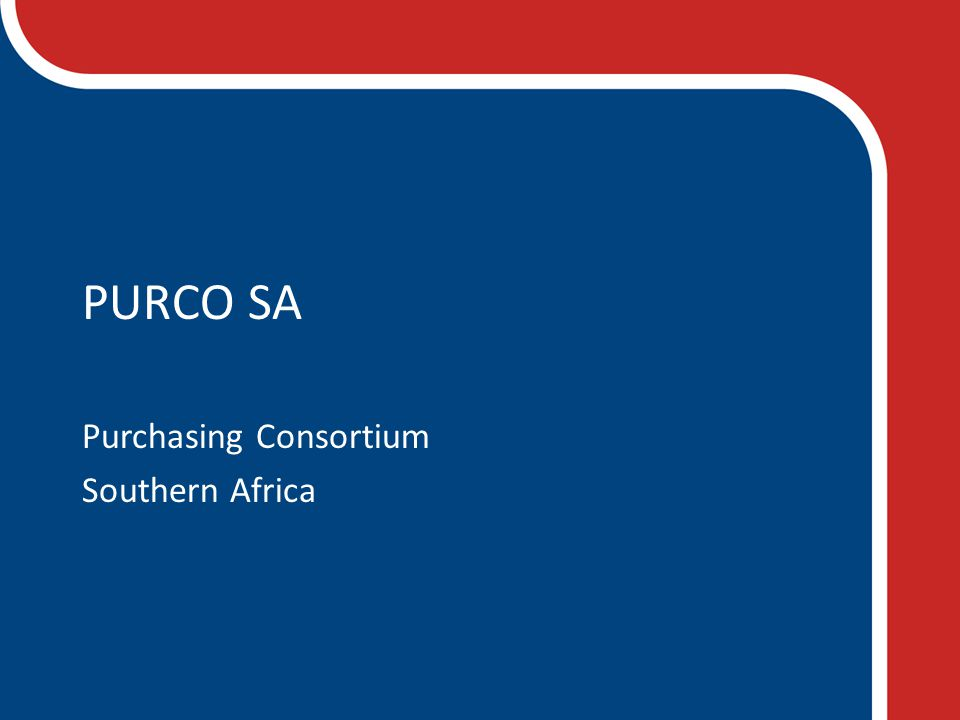 PURCO SA Purchasing Consortium Southern Africa