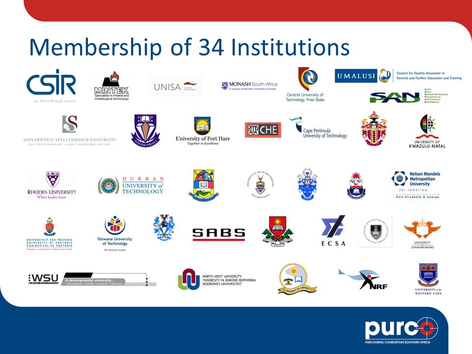 Membership of 34 Institutions