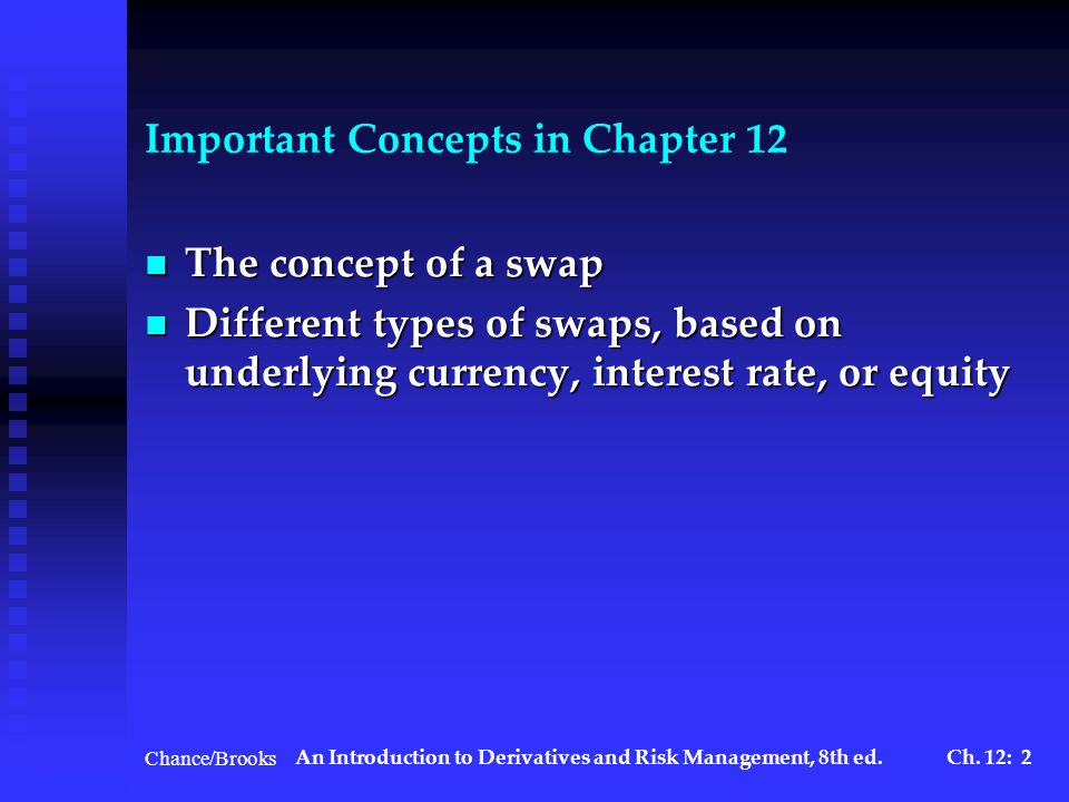 Chance/BrooksAn Introduction to Derivatives and Risk Management, 8th ed.Ch.