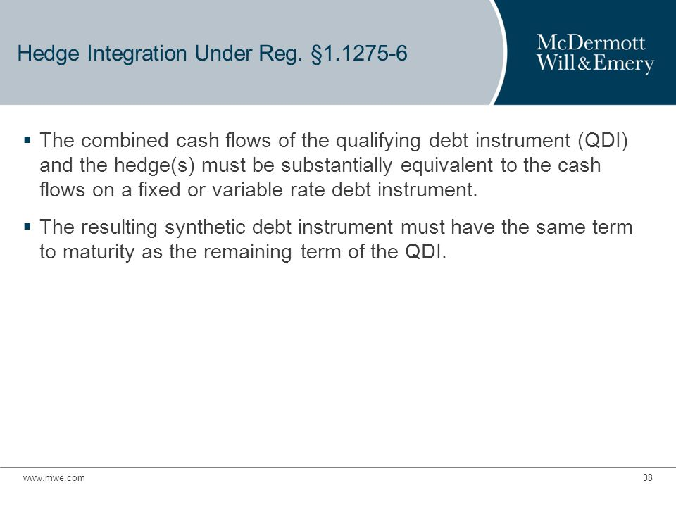 Hedge Integration Under Reg.