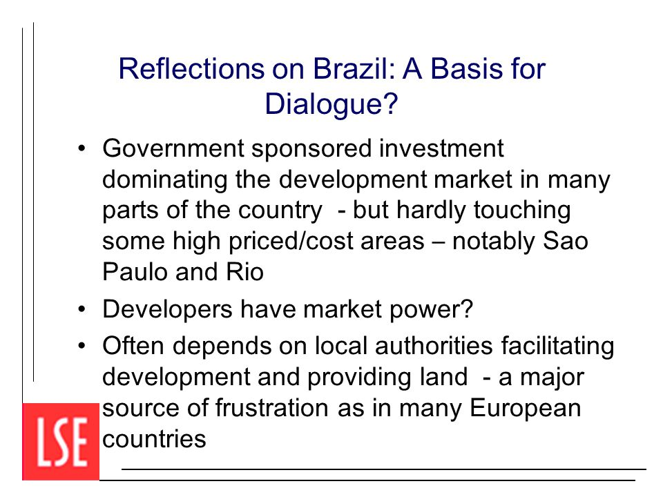 Reflections on Brazil: A Basis for Dialogue.