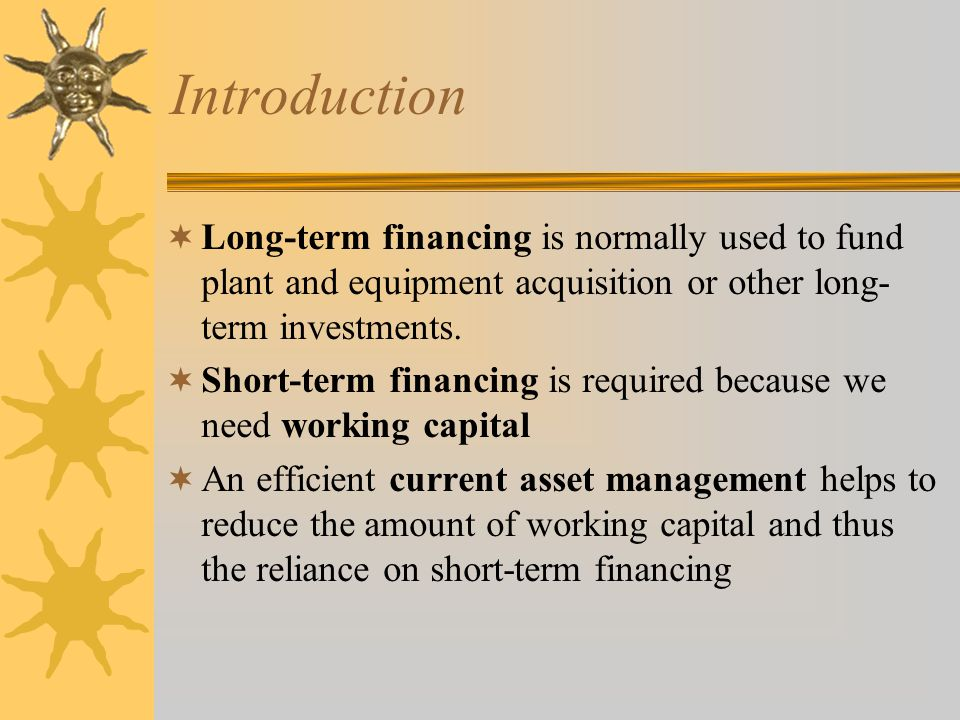 Chapter 6,7&8 Short-term Financing