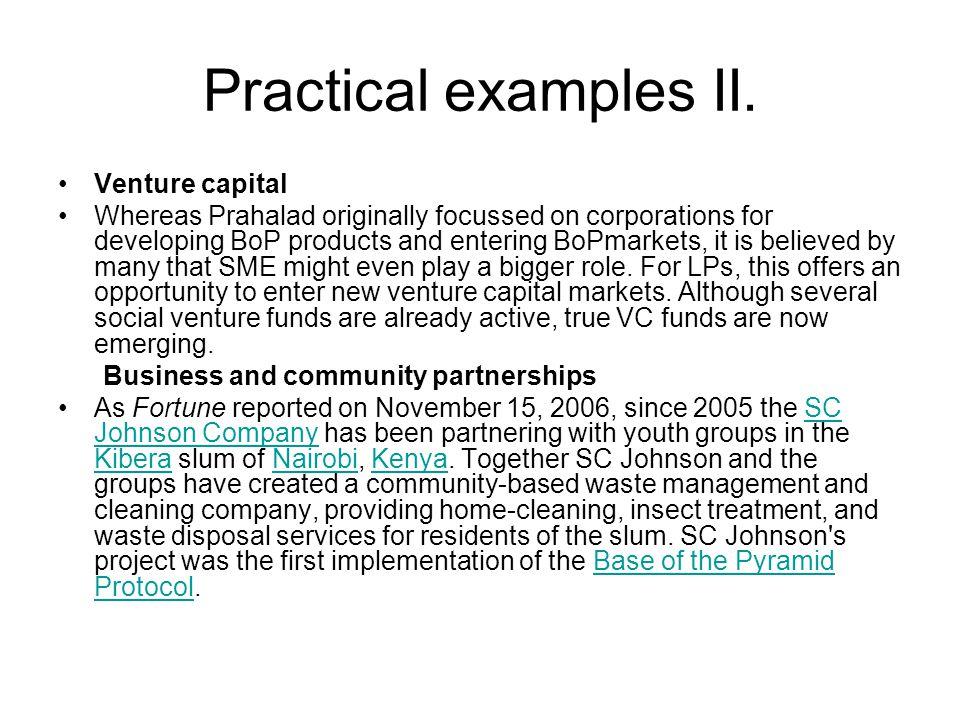 Practical examples II.