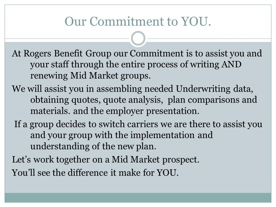 Our Commitment to YOU.