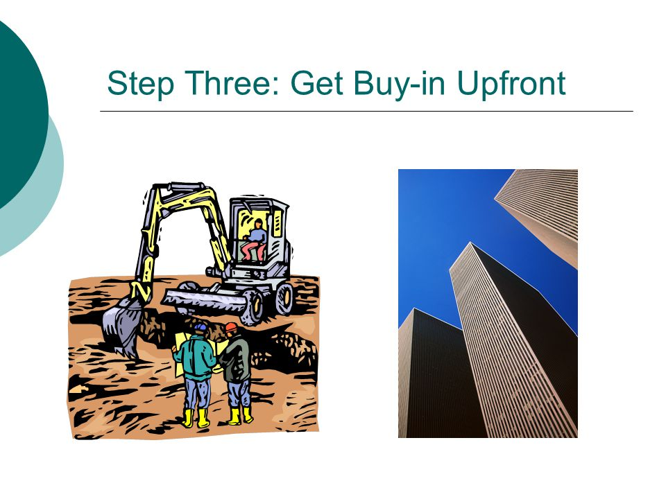 Step Three: Get Buy-in Upfront