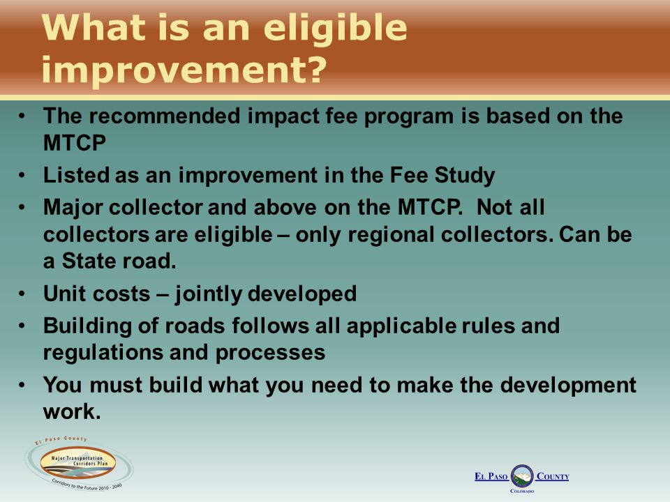 What is an eligible improvement.