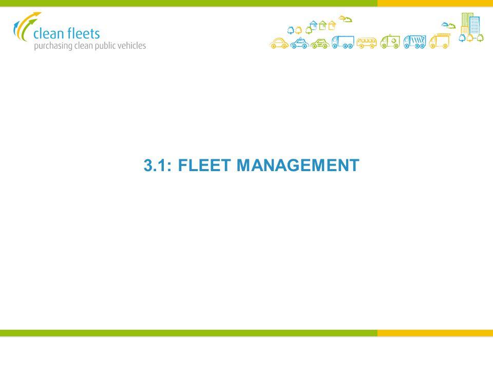 3.1: FLEET MANAGEMENT